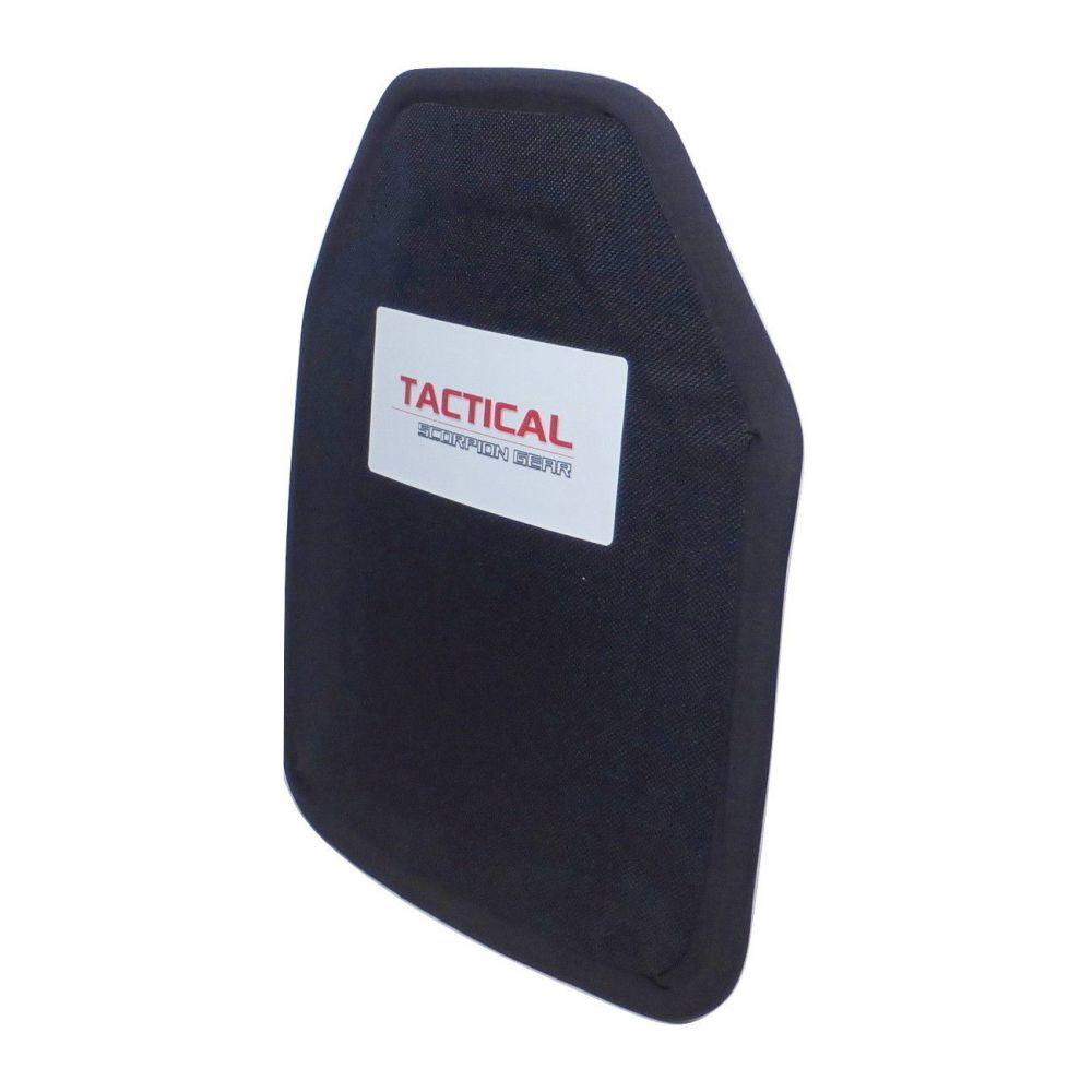 Tactical Scorpion Gear Level IIIA Aramid Body Armor Hard Curved 8 x 10 Plate