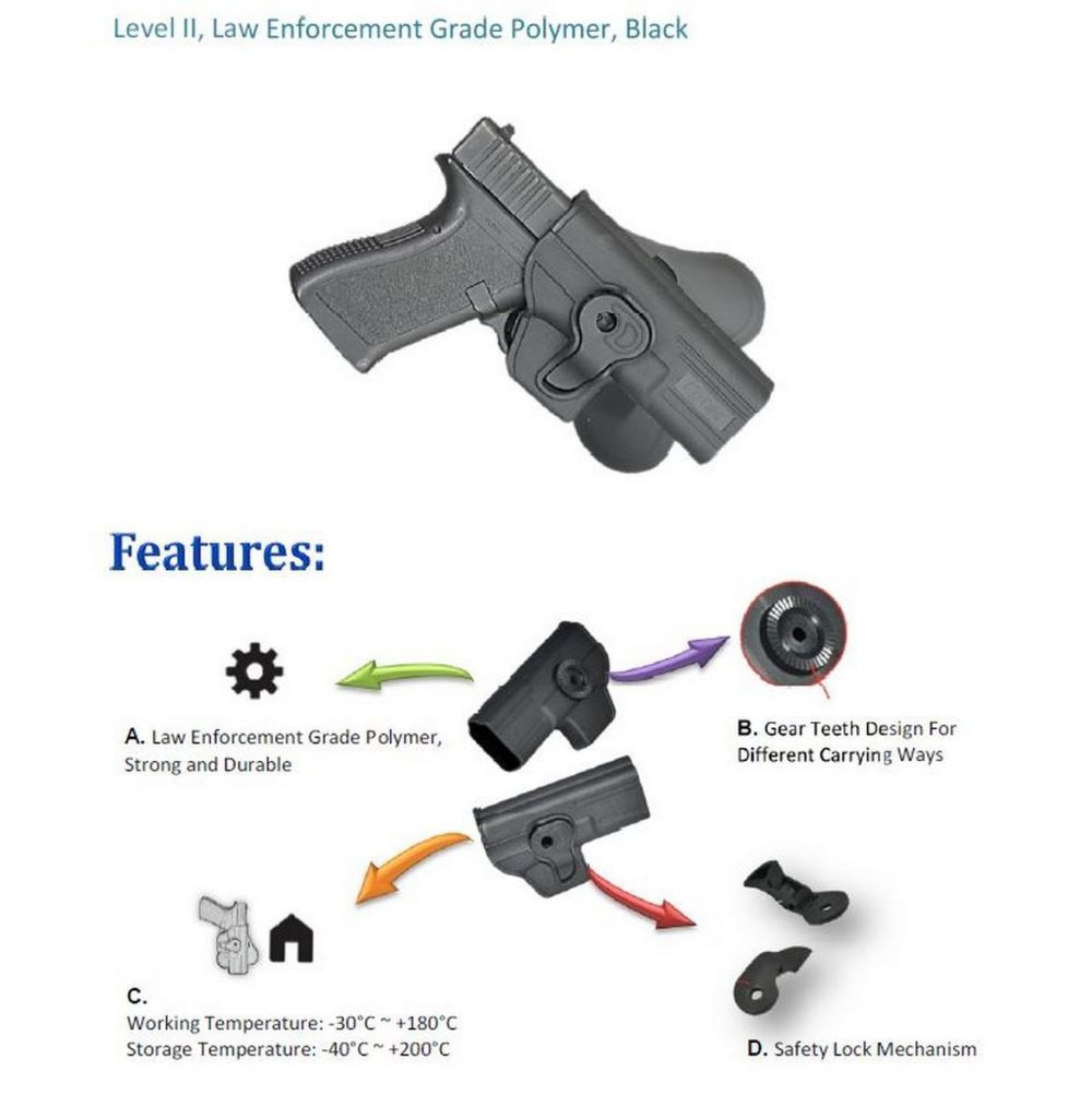 Walther P99 QA Modular Level II Retention Paddle Holster Tactical Scorpion