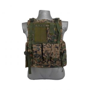 Bearcat Molle Plate Carrier Vest Digital Woodland
