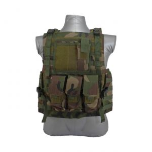 Bearcat Molle Plate Carrier Vest Woodland