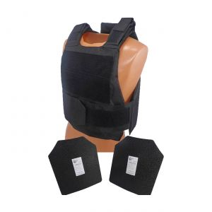 Level III AR500 Armor Steel 2 Piece Lightweight Vest Black