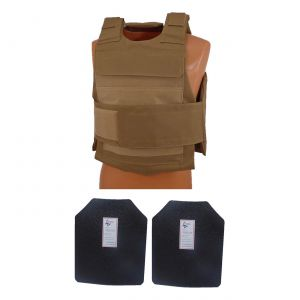 Level III AR500 Armor Steel 2 Piece Lightweight Vest Coyote Brown