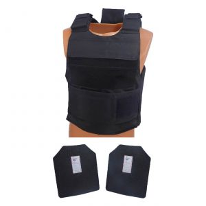 Level III AR500 Steel Armor 2 Pc Dual Pocket Lightweight Vest Black