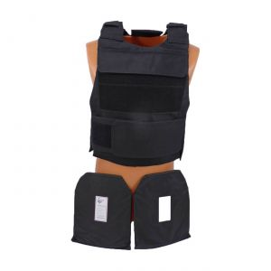 Level IIIa Lightweight Body Vest Armor With Pair Hard Curved 10X 12 Plates