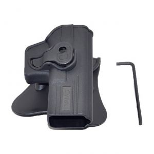 Ruger-Lc9-With-Crimson-Laser-Modular-Level-Ii-Retention-Polymer-Paddle-Holster