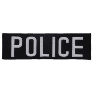 Tactical Scorpion Gear Embroidered Black And White Police Insignia 25 X 9