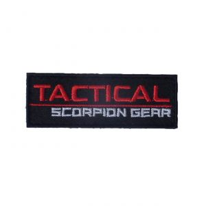 Tactical Scorpion Gear Embroidered Hook Woven Logo Insignia- 3/4