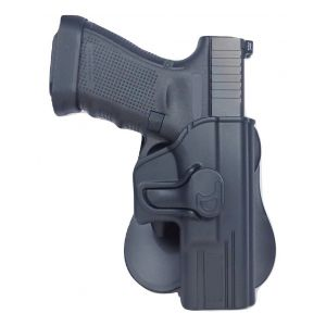 Ruger LC9 w/ Laser Modular Level II Retention Polymer Paddle Holster-Small