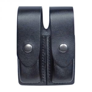 Tactical Scorpion Gear Leather Double Pouch for Double Stack Magazines with covers