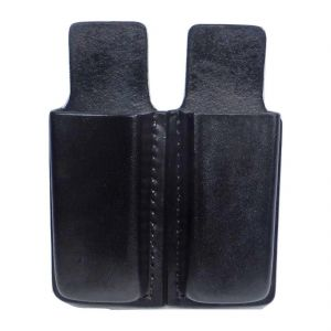 Tactical Scorpion Gear Leather Open Top Double Pouch for Double Stack Magazine