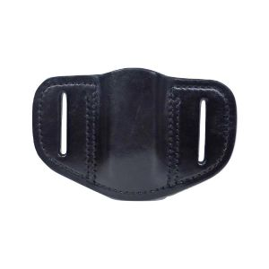 Tactical Scorpion Gear Leather Single Pancake Pouch for Double Stack Magazines