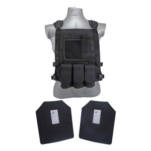 Tactical Scorpion Gear Level III AR500 Body Armor Wildcat Molle Vest Black
