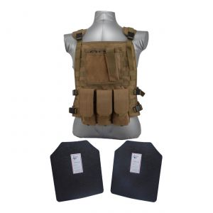 Tactical Scorpion Gear Level III AR500 Body Armor Wildcat Molle Vest Coyote Brown