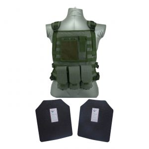 Tactical Scorpion Gear Level III AR500 Body Armor Wildcat Molle Vest Green