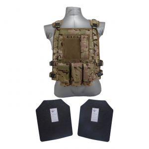Tactical Scorpion Gear Level III AR500 Body Armor Wildcat Molle Vest Multicam
