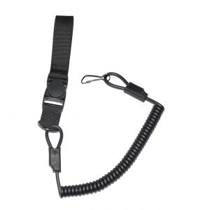 Tactical Scorpion Gear Recoil Pistol Lanyard - Black-Small