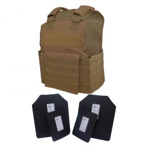 Tactical Scorpion Level Iii Ar500 Body Armor 11X14 Molle Muircat Vest Coyote Brown
