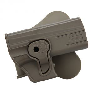 Glock 19 23 32 Modular Level II Retention Polymer Paddle Holster Dark Earth - Option 1