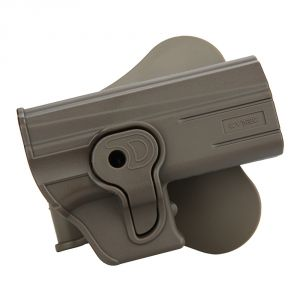 Beretta 92 Modular Level II Retention Polymer Paddle Holster Dark Earth - Option 1