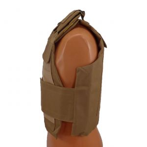 Level III AR500 Steel Armor 2 Piece Dual Pocket Lightweight Vest - Coyote Brown