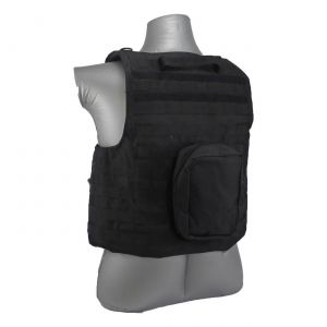 Tactical Scorpion Gear 4 Pc Level III+ / AR500 Body Armor Bearcat Molle Vest - Black