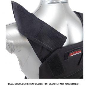 Tactical Scorpion Gear AR500 Bobcat 8X10 Concealed Body Armor Carrier Vest Black