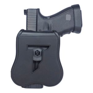 S &W M&P Compact Modular Level II Retention Polymer Paddle Holster-Thumb