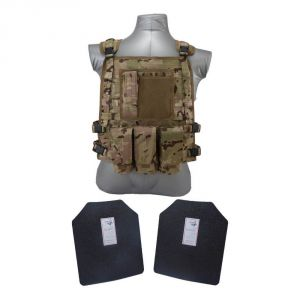 Tactical Scorpion Gear Level III+ / AR500 Body Armor Wildcat Molle Vest - Multicam