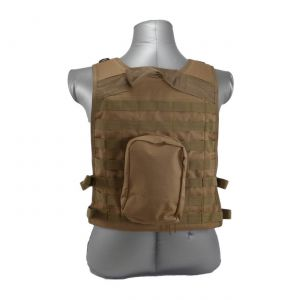 Wildcat Molle Armor Plate Carrier Vest Coyote Brown